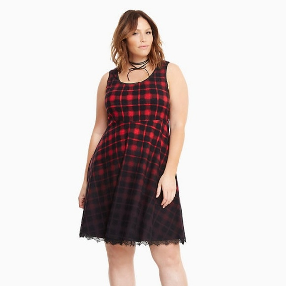 Lane Bryant Plaid Dress 22 24 3x Torrid Gift